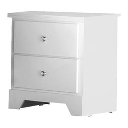 Standard Furniture - Standard Furniture Marilyn Nightstand in Glossy White - Standard Furniture - Nightstands - 66307 - About The Marilyn Collection: