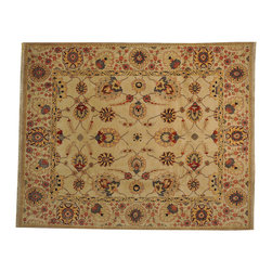 Hand Knotted 100% Wool 8' x 10' Vegetable Dyes Beige Oushak Oriental Rug SH16917 - Hand Knotted Oushak & Peshawar Rugs are highly demanded by interior designers.  They are known for their soft & subtle appearance.  They are composed of 100% hand spun wool as well as natural & vegetable dyes. The whole color concept of these rugs is earth tones.