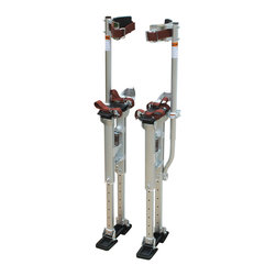 Buffalo Tools - Pro-Series Aluminum Drywall Stilts - Strap on the Pro-Series Aluminum Drywall Stilts to give yourself an additional 18 to 30 inches of height when you have a lot of drywall to hang. These Drywall Stilts are intended for contractors and serious do-it yourselfers when hanging or working with drywall, or installing and painting ceilings. Save your knees and back from the work of crawling up and down a ladder with heavy loads.