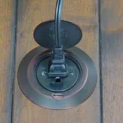 Sillites Floor Receptacle - Sillites bronze floor receptacle