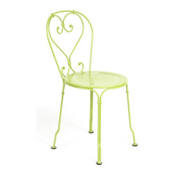 Fermob - 1900 Stacking Chair - The 1900 chair is part of a long French tradition of romantic parks, gardens and bandstands, but also incorporates modern-day ergonomical and practical elements, thanks to Fermob's redesign a little over 10 years ago, in order to make it foldable and more comfortable.