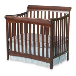 Child Craft - Child Craft Coventry Mini 4-in-1 Covertible Sleigh Crib in Cherry - The Child Craft Coventry 4-in-1 Mini Convertible Sleigh Crib has graceful contoured lines that make it an elegant choice for your nursery. Plus it grows with your child as it can convert into four different bed types.