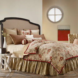 Mystic Home - Great Falls Timber Twin Complete Bed Set - - The Great Falls Complete integrates a Duvet cover, a bed skirt, a coverlet, an 18-in A Pillow, an 18-in Pillow A, a neckroll, a large boudoir, and a sheet set with Shams as follows: Twin 2 (1 A, 1 B) Euro Shams + 1 Standard sham. All Shams are sold flat   - Frame Material: Linen, Cotton, Viscose and Poly   - Cleaning/Care: Dry Clean Only   - Pillow Not Included   - Made in USA Mystic Home - ZREFXT-3