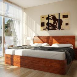 CondoBed Company - Corzano Walnut Storage Bed - CondoBed Company