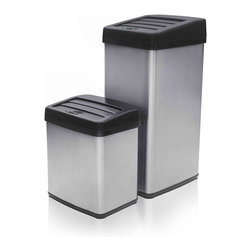 None - Modernhome Anti-fingerprint Motion Activated Touchless Trash Can Set - The Modernhome Anti-fingerprint Motion Activated Trashcan Set,with capacities of 11 gallons and 4 gallons,is a perfect companion for any kitchen,bathroom,living room,bedroom and office.