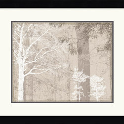 """Amanti Art - """"Luminous II"""" Framed Print by Pela + Silverman - Invite a forest of reverie into your decor. This remarkable print from creative combo Pela + Silverman presents a wintery wonderland of delicate silhouettes to your favorite setting."""