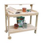 White Cedar Potters Bench Cart - A landscaper's delight!  This basic White Cedar