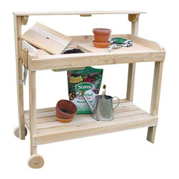 White Cedar Potters Bench Cart - A landscaper's delight!  This basic White Cedar