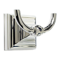 Amerock - Amerock Markham Polished Nickel Bath Robe Hook - This bath robe hook from Amerock's Markham collection will complement any bathroom design and is available in polished nickel finish. This bath robe hook comes with mounting instructions,installation template and installation screws.