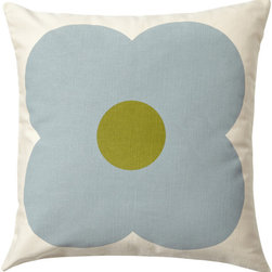 Surya - Giant Abaws Pillow by Orla Kiely, Beige/Moss/Lime Pillow - Orla Kiely's iconic designs bring a distinct modern quality with a mid-century feel that adds another dimension to every interior.Mix & match with the cushions to add fashionable style to your home in an instant.
