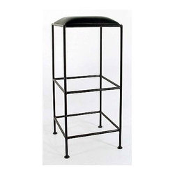 "Grace - 36"" Square Metal Bar Stool - Backless, bar stool in wrought iron that is extremely sturdy and stable. Great at the kitchen counter or the bar. Durable solid iron frame with choice of metal finish. Features: -Painted according to your choice of metal finish. -Ships fully assembled. -36"" to top of Seat. -Dimensions: 16.5"" W x 16.5"" D x 36"" H. -Artistically crafted in wrought iron. -Available in 12 designer metal finishes. -Suited for Residential use only."