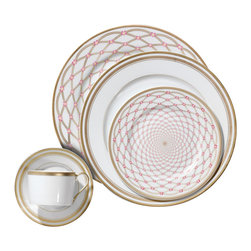 IMPERIAL COURT, INC. - Czarina Alexandra 5-Pps - Limoges porcelain dinnerware decorated with 24k gold.  Dinnerware patterns are sold as five-piece placesetting as well as open stock.  Serving pieces are also available.