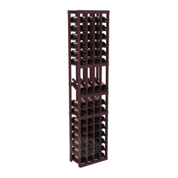 4 Column Display Row Cellar Kit in Pine with Burgundy Stain - Make your best vintage the focal point of your wine cellar. Four of your best bottles are presented at 30° angles on a high-reveal display. Our wine cellar kits are constructed to industry-leading standards. You'll be satisfied with the quality. We guarantee it.