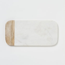 Marble and Wood Cheese Board - This pretty marble cheese board is a necessity, trust me.