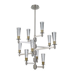 Murray Feiss - Murray Feiss F2816/10 Celebration 10 Light Multi Tier Chandelier - Features: