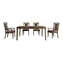 Riverside Furniture - Riverside Furniture Promenade 7 Piece Dining Table Set in Warm Cocoa - Riverside Furniture - Dining Sets - 845507PCPKG