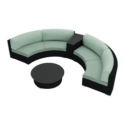 Urbana Eclipse 4 Piece Round Sectional Set, Spa Cushions