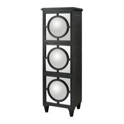 Sterling Industries - Sterling Industries 136-001 Convex Mirror Shelf Unit In Gloss Black - Shelf Unit (1)