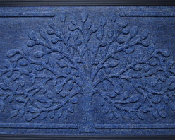 """A1 Home Collections - Molded Polypropylene Mat """"Shredding Leaf"""" Design, Non Slip Backing,18""""X 30"""" - This doormat is rubber backed mat with polypropylene surface that is ideal for keeping moisture and dirt away from indoor floors. The polypropyle rug surface of this mat adds a non-slip grip for safety."""