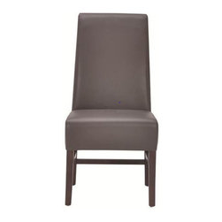 Sunpan Modern - Habitat Parsons Chair (Set of 2) - Features: -Material: Bonded leather.-Frame material; Solid wood.-Handsome dining chair works with all types of tables from traditional to contemporary.-Legs and stretchers finish: Espresso.-Please note that although every attempt has been made to ensure accuracy, all dimensions are approximate and colors may vary.-Please note that the leg color on Sunpan dining chairs does not always match the dining table color.-Distressed: No.Dimensions: -Seat height: 19''.-Overall Product Weight: 34 lbs.Warranty: -This item is deemed acceptable for both residential and nonresidential environments such as restaurants, hotels, lounges, offices and reception areas. Please note that this item carries the manufacturer's standard ONE YEAR WARRANTY from the date of purchase. Please contact Wayfair customer service or sales representatives for further information.