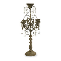 Vintage French Tabletop Candelabra - *Nearly three feet tall, the Tracy candle chandelier has an inspiring presence and instantly adds elegance to any tabletop.