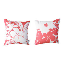 Kaypee Soh - Plumeria Pillow - Honeysuckle - Hawaiians have been using these delicate beauties in the traditional practice of lei making for hundreds of years. Be a part of tradition.