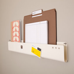 Pocket Strip Wall Organizer - I'm all about multi-purpose solutions. This magnetic wall organizer is brilliant.