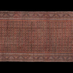12×36 Antique Persian Feraghan Rug - Antique Persian Feraghan Palace Carpet 12'2″ x 36'4″