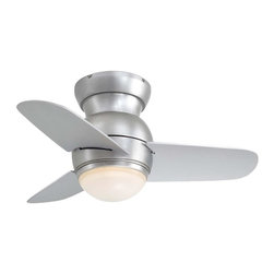 Minka Aire - 26IN HUGGER FAN-BS 2011 F510-BS - Minka-Aire F510-BS One Light Steel Hugger Ceiling Fan