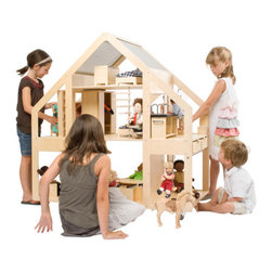 Leading Villa - Liliane brings the dollhouse to the next level, literally. This gem is designed for 30-centimeter dolls (or dolls that are roughly 1 foot long). It's such a fun idea, and I'm especially fond of all the open space. It's perfect for play.