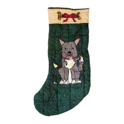 Patch Magic - Fido Stocking - 8 in. W x 21 in. L. 100% Cotton. Machine washable.. Line or flat dry onlyGorgeous and unique hand quilted Christmas stocking.
