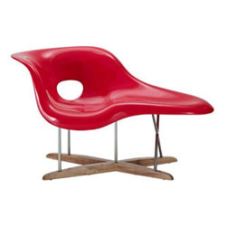 "LexMod - Ameoba Chaise in Red - Ameoba Chaise in Red - The Amoeba La Chaise is suitable for both sitting and lying on. Set Includes: One - Amoeba La Chaise Solid rubberwood base, Strong fiberglass chaise, Chrome plated steel frame Overall Product Dimensions: 58.5""L x 33.5""W x 33.5""H - Mid Century Modern Furniture."