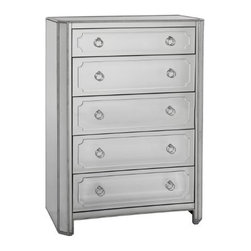 "Basett Mirror - Chapman Tall Chest - Chapman Tall Chest. 38"" x 19"" x 54""H."