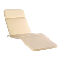 Haste Garden - Cushion Riviera Lounger Vanilla - The cushion is made of high durability foam and silicon and the cover is produced of acrylic fabric made of 100% DRALON with TEFLON stain-proof and water repellent finishing that protects the fabric against dirt, grease, liquids and deposits of dust.