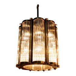 Marco Polo Imports - Henning Nouveau Grand Chandelier-Antique Pewter - The detailed combination of aged brass and blown glass invites warmth and elegance to your atmosphere and is sure to liven up any room. This collection reinvents the old conventional lamp into a modern display focusing on functionality, form, and design.