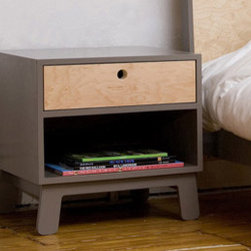 Sparrow Nightstand By Oeuf - The Sparrow night stand is not just a placeholder for the night lamp. It has a single drawer which can be utilized by your kids to store some frequently used items. There is also an easy access storage space that can be customized depending on the needs of your kids.