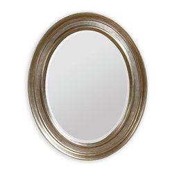 Bassett Mirror - Bassett Mirror Bellagio Wall Mirror - Bring depth to your bedroom or dining room with the Bellagio Wall Mirror. Simple but upscale, this oval-shaped mirror features a silver leaf finish and ridged frame. Pair it with transitional decor for a cohesive look.