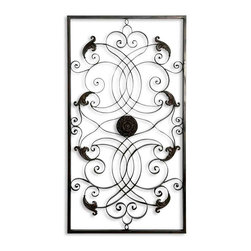 Uttermost - Uttermost 07527 Effie Rectangle Metal Wall Art - Uttermost 07527 Effie Rectangle Metal Wall Art