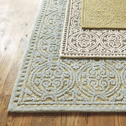Granada Rug - I like this Granada rug in light blue with khaki. It is intricate, yet simple.