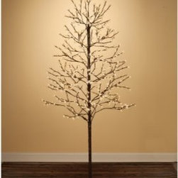 Sterling 7.5 ft. 512 ct. Warm White LED Indoor/Outdoor Blossom Tree - This Sterling 7.5 ft. 512 ct. Warm White LED Indoor/Outdoor Blossom Tree is an ideal Christmas tree alternative for any contemporary urban space. At 7.5 feet tall, it glows with over 500 warm, cheerful white LED lights. Perfect for indoor or outdoor use all season long, this tree spreads holiday cheer through each tender blossom of light. Make it an addition to your current holiday theme or create a whole new one around this instant classic.About Sterling, Inc.Located in Kansas City, MO, Sterling, Inc. carries an impressive, diverse selection of holiday decorations and accessories. With items such as miniature ornaments, table-top decorations, novelty lighting, stockings, and theme trees, Sterling, Inc. is recognized as One Great Source for holiday products. Two categories essential to Sterling, Inc. include Sterling's Forest, which is a full line of lifelike trees, pre-lit trees, wreaths and garlands, and Designer's Studio, which features versatile hand-blown and hand-painted glass. In addition to holiday products, Sterling, Inc. carries an exclusive line of palm trees, creative lighting and lawn decorations. Creating festive outdoor environments is top priority for Sterling, Inc., whose mission is To be the leader in our industry by exceeding the expectations of our employees, our employer, our sales agents, and our customers.