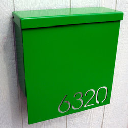 Custom House Number Mailbox No. 1310 Drop Front in Powder Coated Aluminum by Mod - Custom House Number Mailbox No. 1310 Custom House Number Mailbox No. 1310 Drop Front in Powder Coated Aluminum