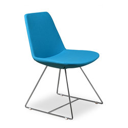 Inmod - Vino CSB Dining Chair (Set of 2), Turquoise Fabric - In the market for fun, modern retro chair for your home or apartment? Look no further, our Vino CSB Dining Chair is exactly what you've been looking for! Simple yet gracious in form & function, the Vino CSB Dining Chair is lightly cushioned with polyurethane foam padding & supported by a sturdy internal steel frame.