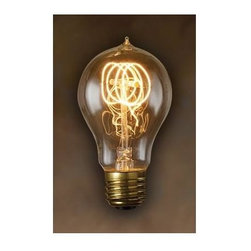Bulbrite - Quad Loop Edison Light Bulbs - 6 Bulbs - One pack of 6 Bulbs. Historic style. Intricate filament design. Bright filaments for warm and amber glow. Excellent replica of antique light bulbs. 120V E26 base Victorian incandescent bulb type. Dimmable. Wattage: 25W. Average hours: 3000. Color rendering index: 100. 360 degrees beam spread. Color temperature: 2000K. Lumens: 52. Can be used as indoor, outdoor and any transparent light fixture. Perfect accent for any antique decor. Ideal for portables, ceiling fixtures, chandeliers, sconces, and outdoor lighting, signage and displays. Maximum overall length: 4.5 in.Historic lamps add the ideal finishing touch of authenticity to fixtures. Meticulously crafted to preserve the look of early 20th-century lighting, Bulbrite's Nostalgic Collection is the perfect complement to any vintage or contemporary decor.