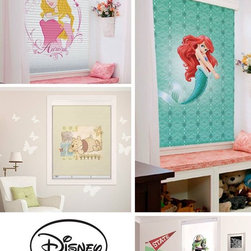 Custom Printed Roller Shades - For those little ones! A room can also be MAGICAL