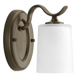 Progress Lighting - Progress Lighting P2018-20 Inspire 1 Light Bathroom Light In Antique Bronze - Progress Lighting P2018-20 Inspire 1 Light Bathroom Light In Antique Bronze