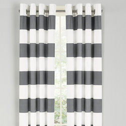 Nautica - Nautica Cabana Stripe Drape Set - Cloud Gray Multicolor - 200658 - Shop for Curtains and Drapes from Hayneedle.com! Adorn your windows in style with the Nautica Cabana Stripe Drape Set - Cloud Gray. The 84-inch long woven slub duck cloth drapes will cascade your windows and flow in the breeze on a warm day. This set comes complete with two drapes and matte silver grommets to ensure sturdiness. About NauticaNautica offers quality design and value while capturing the essence of an active adventurous and spirited lifestyle. Nautica took its name from the Latin word Nauticus for ship. Since one of mankind's first accomplishments in exploring the world was to take to the seas a spinnaker logo was designed as a symbol of adventure action and classicism.Founded in 1983 Nautica has evolved from a collection of men's outerwear to a leading global lifestyle brand with products ranging from men's women's and children's apparel and accessories to a complete home collection. Now part of VF Corporation a leader in branded quality apparel Nautica has become one of the most important American lifestyle brands throughout the world.