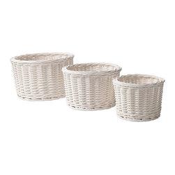 IKEA of Sweden - BYHOLMA Basket, set of 3 - Basket, set of 3, white