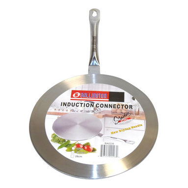 BALLINGTON - Induction Cook Top 7.5-inch Stainless Steel Converter Interface Disc - Interface converter disc enables non-induction cookware to be used on induction surfaces. Durable stainless-steel construction evenly distributes heat.