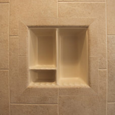 Traditional Showers by Bathroom Tile Shower Shelves