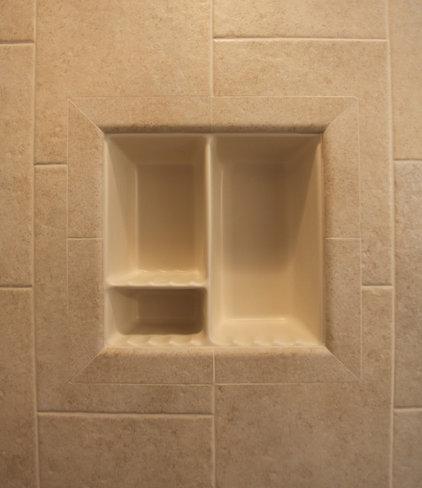 Traditional Showers by Bathroom Tile Shower Shelves